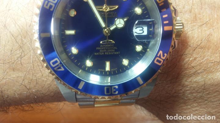 Relojes automáticos: Reloj automático de caballero Submarine INVICTA, esfera azul, como nuevo, muy bonito - Foto 57 - 111530419