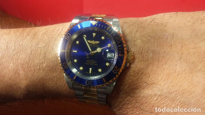 Relojes automáticos: Reloj automático de caballero Submarine INVICTA, esfera azul, como nuevo, muy bonito - Foto 58 - 111530419