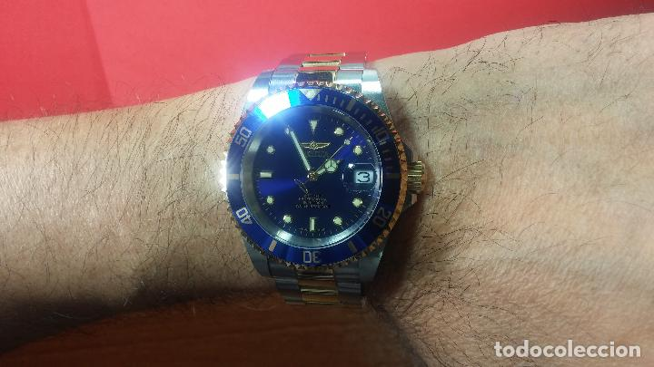 Relojes automáticos: Reloj automático de caballero Submarine INVICTA, esfera azul, como nuevo, muy bonito - Foto 59 - 111530419