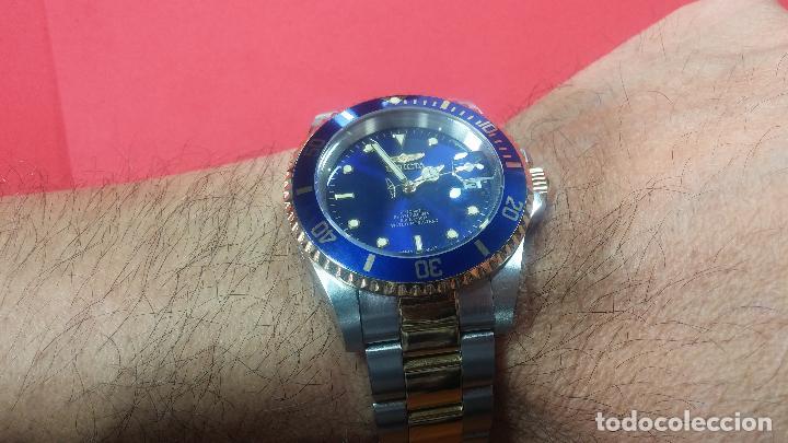 Relojes automáticos: Reloj automático de caballero Submarine INVICTA, esfera azul, como nuevo, muy bonito - Foto 61 - 111530419