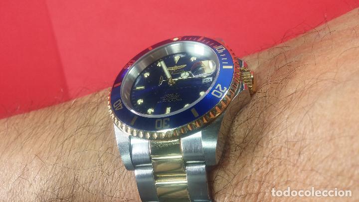 Relojes automáticos: Reloj automático de caballero Submarine INVICTA, esfera azul, como nuevo, muy bonito - Foto 62 - 111530419
