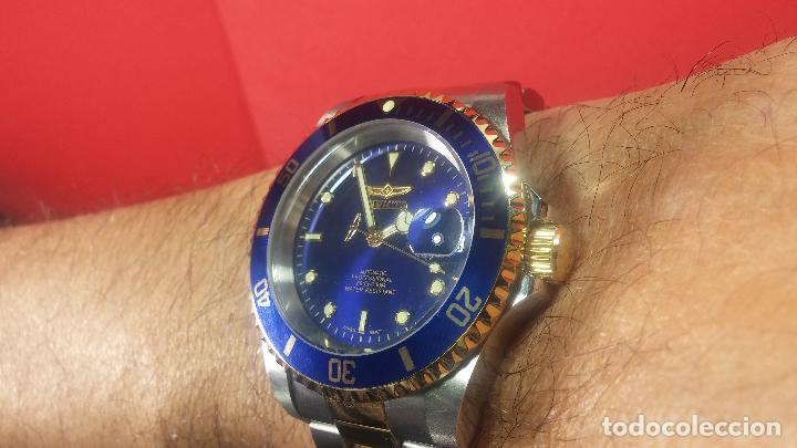 Relojes automáticos: Reloj automático de caballero Submarine INVICTA, esfera azul, como nuevo, muy bonito - Foto 63 - 111530419