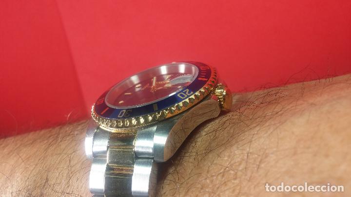 Relojes automáticos: Reloj automático de caballero Submarine INVICTA, esfera azul, como nuevo, muy bonito - Foto 64 - 111530419