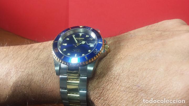 Relojes automáticos: Reloj automático de caballero Submarine INVICTA, esfera azul, como nuevo, muy bonito - Foto 65 - 111530419