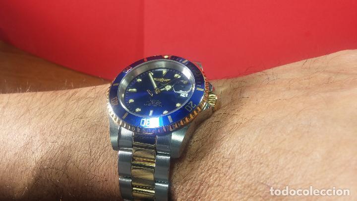 Relojes automáticos: Reloj automático de caballero Submarine INVICTA, esfera azul, como nuevo, muy bonito - Foto 66 - 111530419
