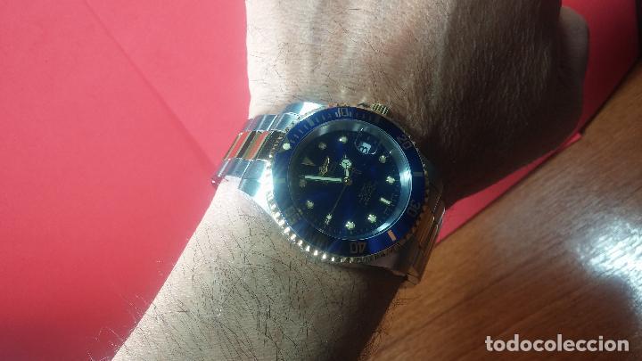 Relojes automáticos: Reloj automático de caballero Submarine INVICTA, esfera azul, como nuevo, muy bonito - Foto 71 - 111530419