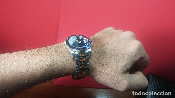 Relojes automáticos: Reloj automático de caballero Submarine INVICTA, esfera azul, como nuevo, muy bonito - Foto 73 - 111530419