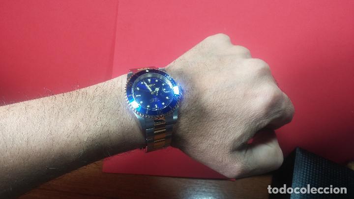 Relojes automáticos: Reloj automático de caballero Submarine INVICTA, esfera azul, como nuevo, muy bonito - Foto 74 - 111530419