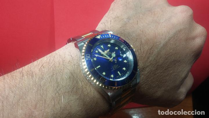 Relojes automáticos: Reloj automático de caballero Submarine INVICTA, esfera azul, como nuevo, muy bonito - Foto 75 - 111530419