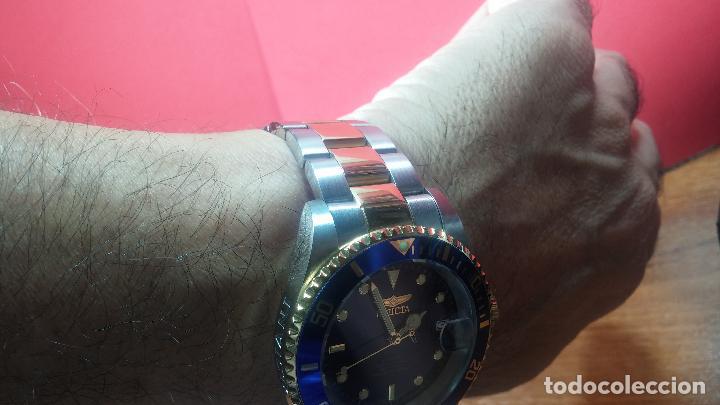 Relojes automáticos: Reloj automático de caballero Submarine INVICTA, esfera azul, como nuevo, muy bonito - Foto 76 - 111530419