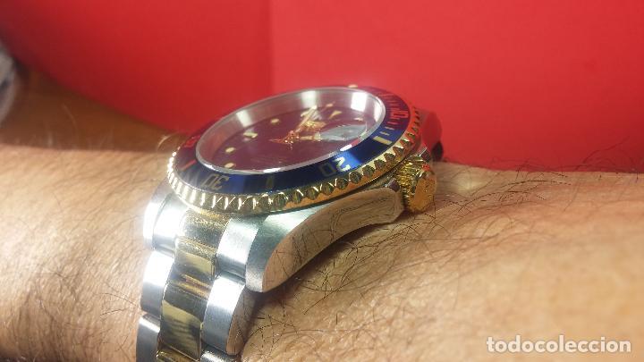 Relojes automáticos: Reloj automático de caballero Submarine INVICTA, esfera azul, como nuevo, muy bonito - Foto 79 - 111530419