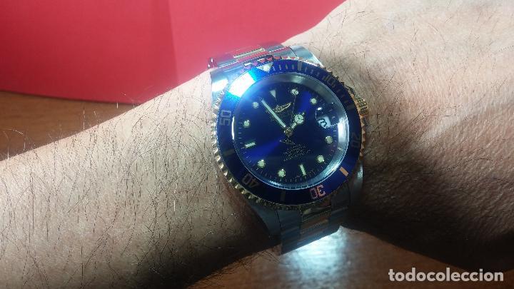 Relojes automáticos: Reloj automático de caballero Submarine INVICTA, esfera azul, como nuevo, muy bonito - Foto 81 - 111530419