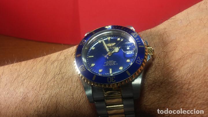 Relojes automáticos: Reloj automático de caballero Submarine INVICTA, esfera azul, como nuevo, muy bonito - Foto 82 - 111530419