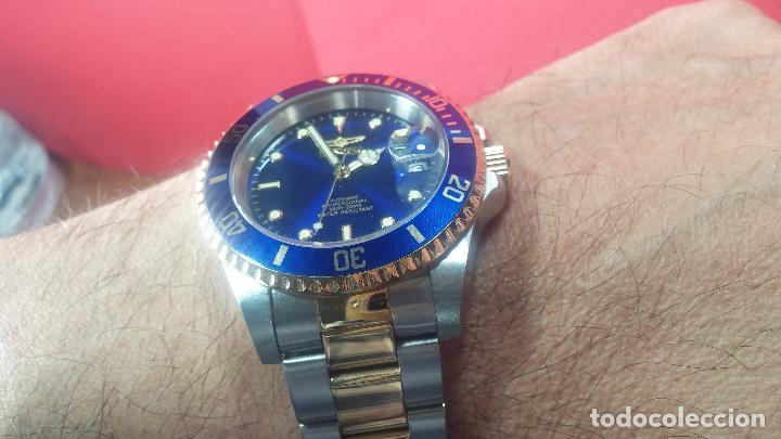 Relojes automáticos: Reloj automático de caballero Submarine INVICTA, esfera azul, como nuevo, muy bonito - Foto 84 - 111530419