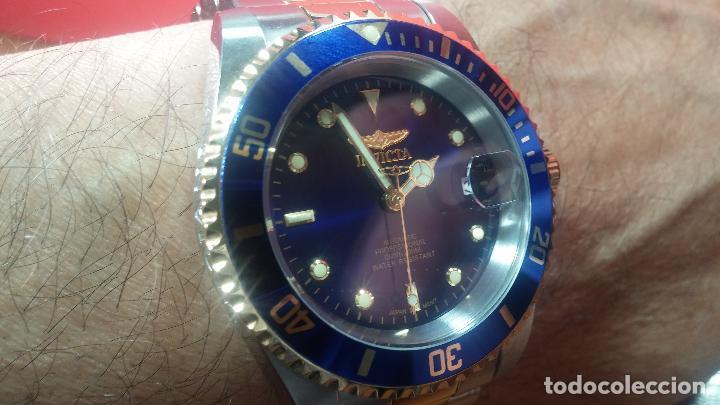 Relojes automáticos: Reloj automático de caballero Submarine INVICTA, esfera azul, como nuevo, muy bonito - Foto 85 - 111530419