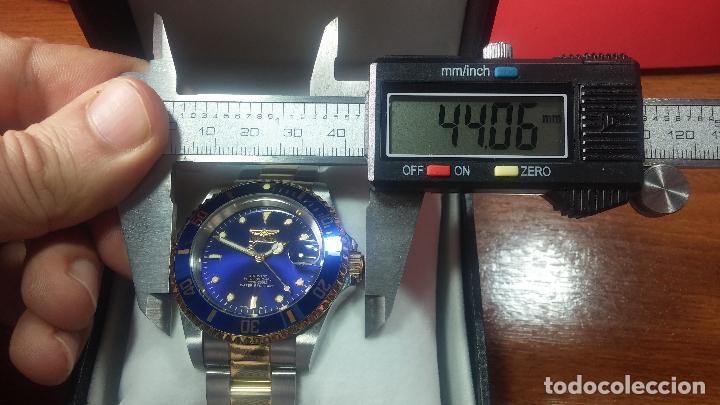 Relojes automáticos: Reloj automático de caballero Submarine INVICTA, esfera azul, como nuevo, muy bonito - Foto 91 - 111530419