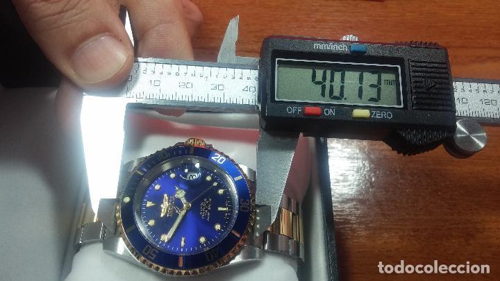 Relojes automáticos: Reloj automático de caballero Submarine INVICTA, esfera azul, como nuevo, muy bonito - Foto 92 - 111530419
