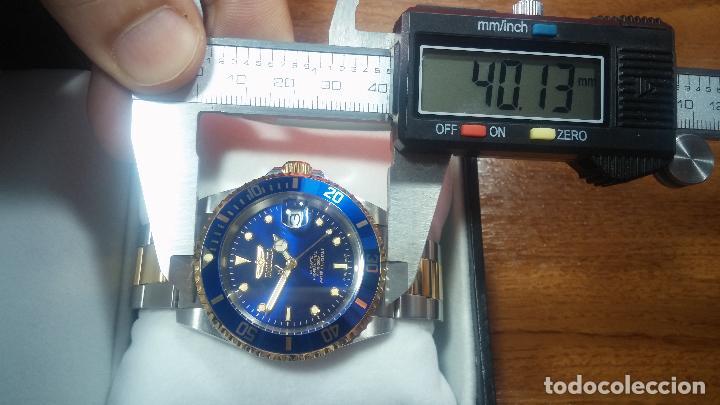 Relojes automáticos: Reloj automático de caballero Submarine INVICTA, esfera azul, como nuevo, muy bonito - Foto 93 - 111530419