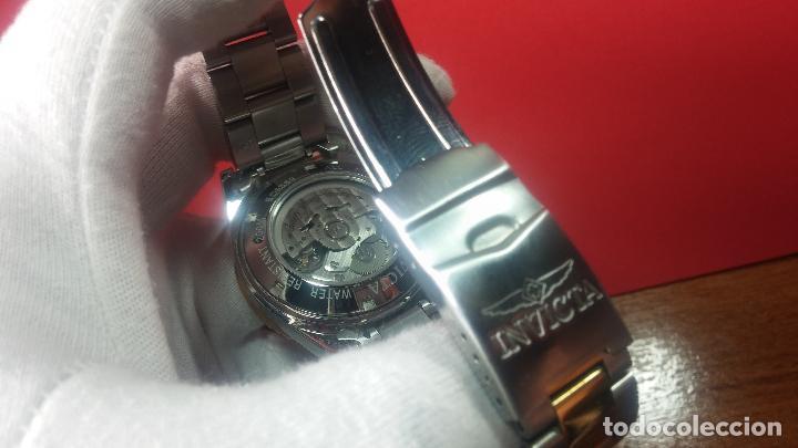 Relojes automáticos: Reloj automático de caballero Submarine INVICTA, esfera azul, como nuevo, muy bonito - Foto 95 - 111530419