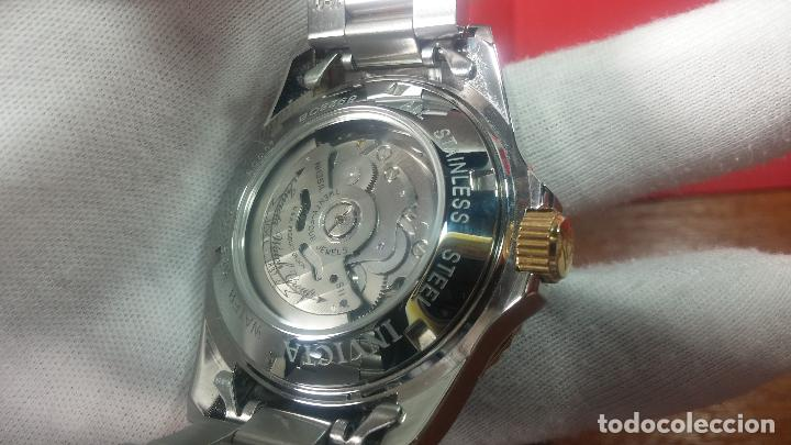 Relojes automáticos: Reloj automático de caballero Submarine INVICTA, esfera azul, como nuevo, muy bonito - Foto 97 - 111530419