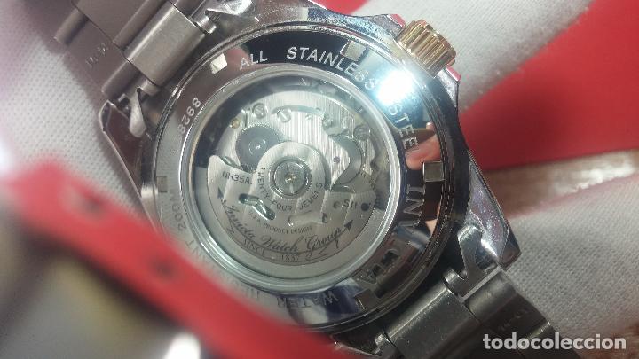 Relojes automáticos: Reloj automático de caballero Submarine INVICTA, esfera azul, como nuevo, muy bonito - Foto 98 - 111530419