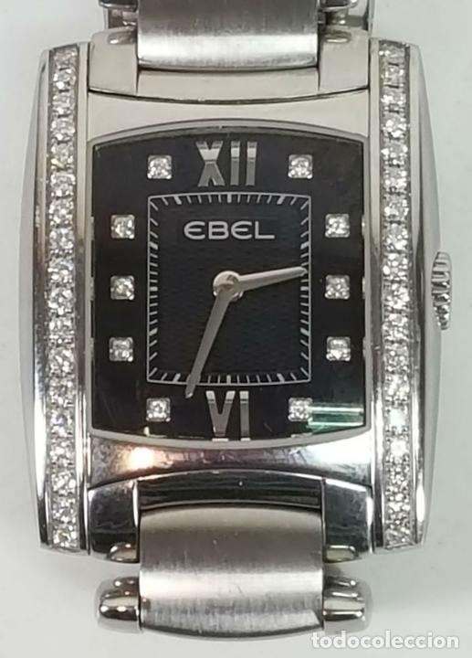 Relojes automáticos: RELOJ DE SEÑORA. EBEL. MODELO BRASILIA. BLACK DIAMOND. SUIZA. SIGLO XX. - Foto 5 - 112338235