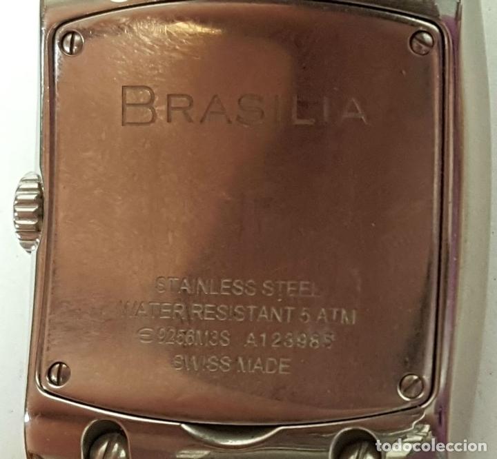 Relojes automáticos: RELOJ DE SEÑORA. EBEL. MODELO BRASILIA. BLACK DIAMOND. SUIZA. SIGLO XX. - Foto 7 - 112338235