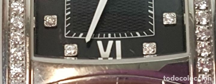 Relojes automáticos: RELOJ DE SEÑORA. EBEL. MODELO BRASILIA. BLACK DIAMOND. SUIZA. SIGLO XX. - Foto 10 - 112338235