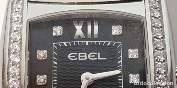 Relojes automáticos: RELOJ DE SEÑORA. EBEL. MODELO BRASILIA. BLACK DIAMOND. SUIZA. SIGLO XX. - Foto 11 - 112338235
