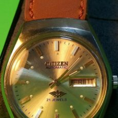 Relojes automáticos: CITIZEN AUTOMATICO. 21 RUBI. 36 MM. FUNCIONANDO. PERFECTO ESTADO. DESCRIPCION Y FOTOS DIVER. Lote 111555260