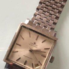 Relojes automáticos: RELOJ ZENITH RESPIRATOR KENNEDY CAJA 30X30 MM Y ARMIS ACERO AÑOS 60-70 FUNCIONA PERFECTAMENTE.. Lote 112726811