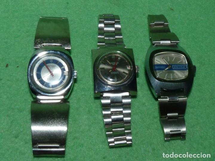 CURIOSO LOTE RELOJ THERMIDOR AUTOMATICO Y CARGA MANUAL ANTIGUO 17 RUBIS FUNCIONANDO ORIGINAL AÑOS 70 (Relojes - Relojes Automáticos)
