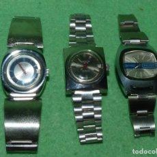 Relojes automáticos: CURIOSO LOTE RELOJ THERMIDOR AUTOMATICO Y CARGA MANUAL ANTIGUO 17 RUBIS FUNCIONANDO ORIGINAL AÑOS 70. Lote 113428583