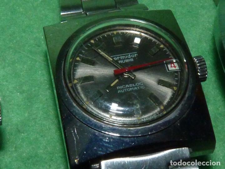 Relojes automáticos: CURIOSO LOTE RELOJ THERMIDOR AUTOMATICO Y CARGA MANUAL ANTIGUO 17 RUBIS FUNCIONANDO ORIGINAL AÑOS 70 - Foto 3 - 113428583