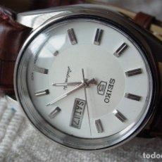 Relojes automáticos: RELOJ SEIKO 5 CLÁSICO AUTOMÁTICO ESFERA BLANCA. Lote 114634003