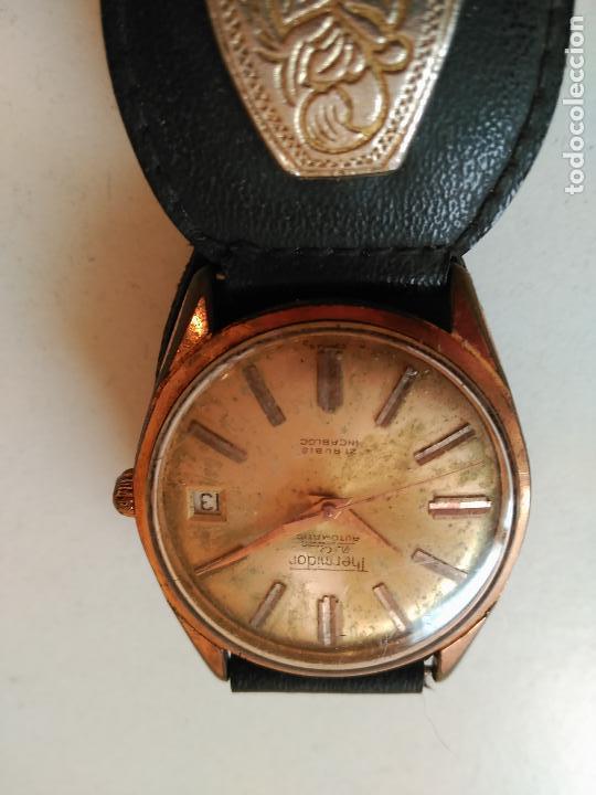 Relojes automáticos: RELOJ THERMIDOR DE LUXE, INCABLOC, AUTOMATIC 21 RUBIES - FUNCIONANDO - Foto 3 - 114701223