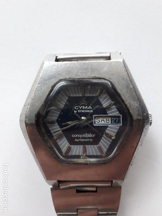 Relojes automáticos: Cyma by Synchron Conquistador Automatic. Funcionando. - Foto 2 - 115168223