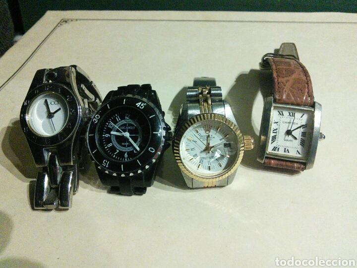 nueva estilos 03605 5725a Lote de 4 relojes imitación mujer gucci rolex c - Sold ...