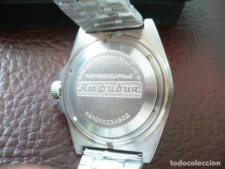 Relojes automáticos: VOSTOK -ANFIBIO- SUBMARINER URSS RUSIA EXTRA LUJO 31 RUBIES, AUTOMÁTICO CON SU ESTUCHE E INSTRUCCION - Foto 5 - 116599255