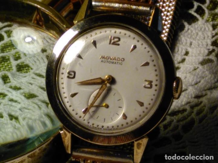 Relojes automáticos: MOVADO AUTOMATICO. AÑO 1.959 FUNCIONANDO - IMPECABLE. ACERO Y ORO. BUMPER/MARTILLO. DESCRIP. Y FOTOS - Foto 10 - 117184515