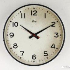 Relojes automáticos: RELOJ PARED XL MICRO INDUSTRIAL VINTAGE GRIS ESPAÑA 60'S. Lote 117497191