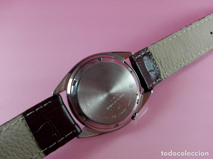 Relojes automáticos: 91-reloj-seiko 5-diseño marrón oscuro-excelente estado-funcionando-ver fotos - Foto 8 - 118407015