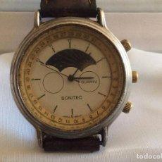 Relojes automáticos: ANTIGUO RELOJ SONITEC CON FASES DE LUNA A PILAS,AÑOS 70,IDEAL COLECCIONISTAS. Lote 118424151