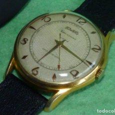 Relojes automáticos: RARO RELOJ DUWARD AUTOMATICO SWISS MADE CALIBRE FELSA 690 BIDYNATOR 21 RUBIS AÑOS 50 GRAN TAMAÑO. Lote 118589987