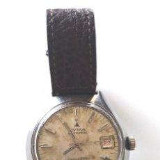 Relojes automáticos: CYMA CONQUISTADOR BY SYNCHRON AUTOMÁTICO CALENDARIO, FUNCIONA. MED. 35 MM SIN CORONA. Lote 118681203