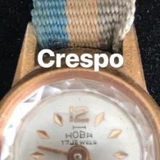 Relojes automáticos: RELOJ DE MUJER HOBA 17 JEWELS. FUNCIONA 1950'S. Lote 118686559