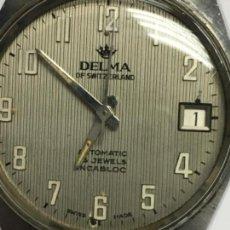 Relojes automáticos: RELOJ DELMA SUIZO AUTOMATICO EN FUNCIONAMIENTO. Lote 146861090