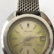 Relojes automáticos: RELOJ DELKAR AUTOMATICO 21 RUBIS FUNCIONANDO SUIZO. Lote 120019023