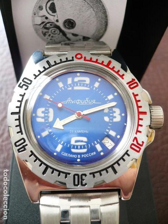 VOSTOK -ANFIBIO- SUBMARINER URSS RUSIA EXTRA LUJO 31 RUBIES, AUTOMÁTICO CON SU ESTUCHE E INSTRUCCION (Relojes - Relojes Automáticos)