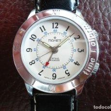 Relojes automáticos: POLJOT - DESPERTADOR MECÁNICO - SERIE NUMERADA Nº 747174 - NEW OLD STOCK. Lote 121446728